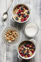 Cereals with almond milk, nuts and berries, vegan - EVGF03411
