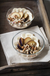 Cereals with banana and plum - EVGF03423