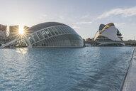 Spain, Valencia, L'Hemisferic and Palau de les Arts Reina Sofia at City of Arts and Sciences - KEB01159