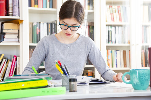 Girl doing homeworks - LVF07820