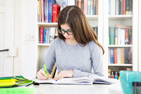 Girl doing homeworks - LVF07823