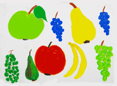 Children's painting of various fruits - WWF04891