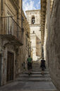 Italy, Sicily, Modica, lane in the old town - MAMF00431