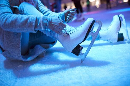 Serbia, Novi Sad, Ice skating, On the ground, Skates - ZEDF01897