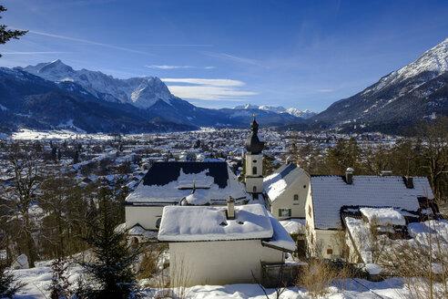 Germany, Bavaria, Upper Bavaria, Garmisch Partenkirchen, pilgrimage church St. Anton - LBF02393