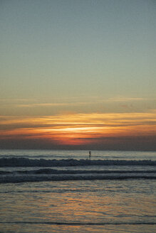 Spain, Tarifa, beach at sunset - KBF00533