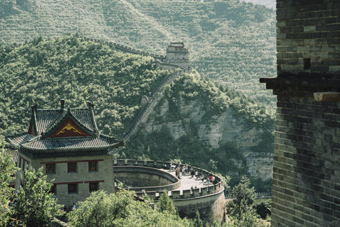 Great Wall of China on mountain during sunny day - CAVF61112