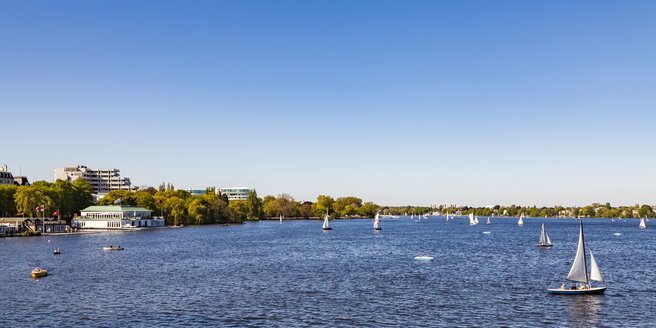 Germany, Hamburg, sailboats on Alster Lake - WDF05134