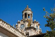 Spain, Baleares, Mallorca, Alcudia, Town hall, clock - RUNF01422
