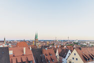 Germany, Nuremberg, Old town, Cityscape with St. Sebaldus Church, evening sky - MMAF00854