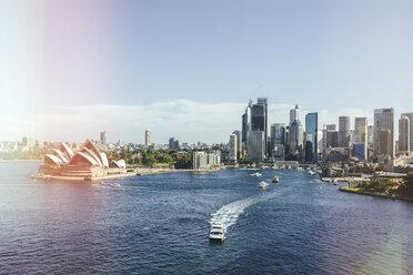 Australia, New South Wales, Sydney, Sydney Harbor landscape with the Opera house - KIJF02344