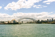 Australia, New South Wales, Sydney, Sydney skyline with opera house and bridge - KIJF02350