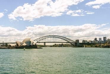 Australia, New South Wales, Sydney, Sydney skyline with opera house and bridge - KIJF02350