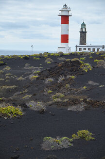 Spain, Canary Islands, La Palma, Faro de Fuencaliente, old and new tower - BSCF00595