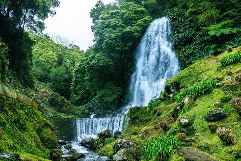 Portugal, Azores Islands, Sao Miguel, Waterfall - KIJF02416