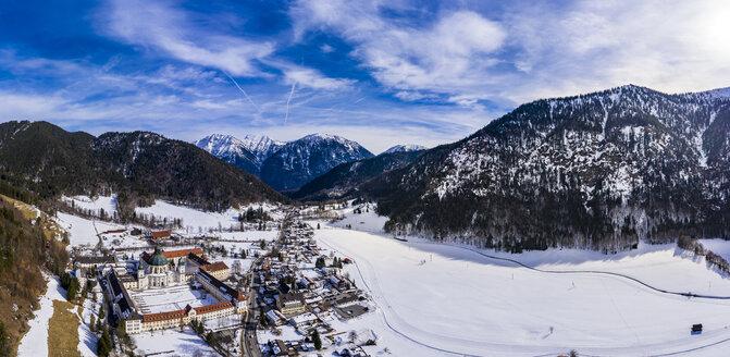 Germany, Bavaria, Garmisch Partenkichen, Oberammergau, Ettal, Benedictine Abbey, Ettal Abbey in winter - AMF06816