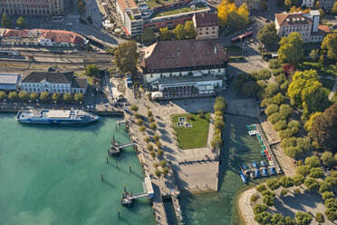 Germany, Baden-Wuerttemberg, Lake Constance, Constance, aerial view harbour and council - SH02115