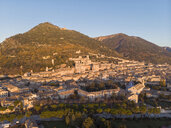 Italy, Umbria, Gubbio, the town and the Roman Theater at sunset - LOMF00852