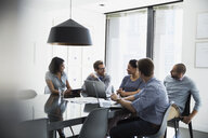 Business people talking in conference room meeting - HEROF27611