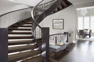 Spiral staircase in elegant home - HEROF27766