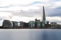 UK, London, River Thames, skyline with City Hall and The Shard - MKFF00439