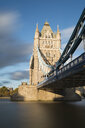 UK, London, Tower Bridge in evening sun - MKFF00442