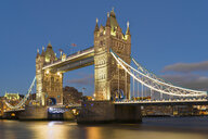UK, London, Tower Bridge at night - MKFF00451