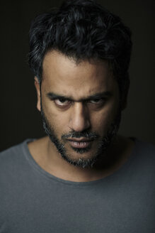 Portrait of an Indian man, looking intimidating - ALBF00796