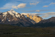 Chile, Patagonia, Torres del Paine National Park, mountainscape in early morning light - RUNF01477