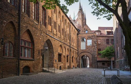 Germany, Mecklenburg-Western Pomerania, Stralsund, Old town, Townhall - MAMF00489