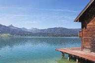 Austria, Alps, Salzburg, Salzkammergut, Salzburger Land, Wolfgangsee, boat house in St. Wolfgang - GWF06006