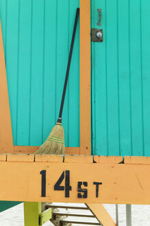 Broom Standing at Back of Lifeguard Station - MINF10651