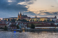 Czech Republic, Prague, Prague castle after sunset - RUNF01508