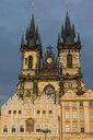 Czech Republic, Prague, old town square, Tyn Church - RUNF01514