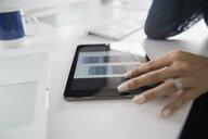 Close up architect using digital tablet - HEROF29347