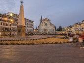 Italy, Tuscany, Florence, Santa Maria Novella, Piazza Santa Maria Novella in the evening - LAF02229