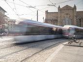 Italy, Tuscany, Florence, Santa Maria Novella, driving tramways - LAF02262