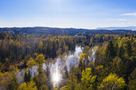 Germany, Bavaria, Upper Bavaria, Alpine foothills, Toelzer Land, aerial view of Birkensee near Geretsried - SIEF08434