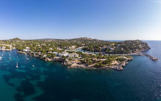 Mallorca, Santa Ponca, Aerial view of bay - AMF06849
