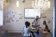 Designers meeting brainstorming in conference room - HEROF30516