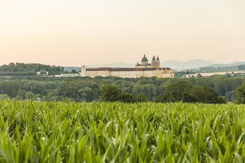 Austria, Lower Austria, Mostviertel, Wachau, View of Melk Abbey - AIF00647
