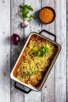 Aubergine lasagne in a casserole - SARF04188
