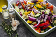 Mix of raw vegetables in casserole - GIOF05873