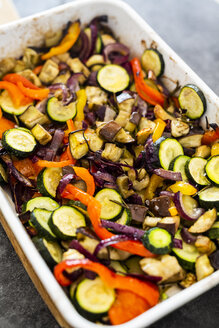 Mix of cooked vegetables in casserole - GIOF05876