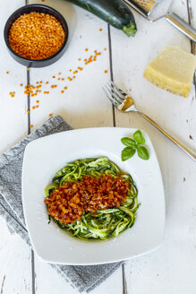 Zoodles with vegetarian bolognese sauce, parmesan and basil - SARF04207