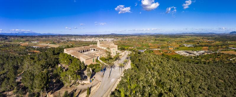 Spain, Majorca, aerial view over Santuari de Monti Sion - AMF06890
