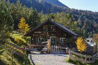 Austria, Tyrol, Karwendel mountains, Hinterautal, Alpine Cabin - SIE08495