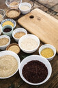 Buckwheat, red rice, bulgur, rice, amaranth, oats, barley and spelt - GIOF05949