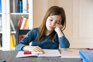 Frustrated girl with homework - LVF07942