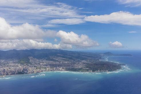 USA, Hawaii, Oahu, Honolulu, Waikiki Beach, Aerial view - FOF10509